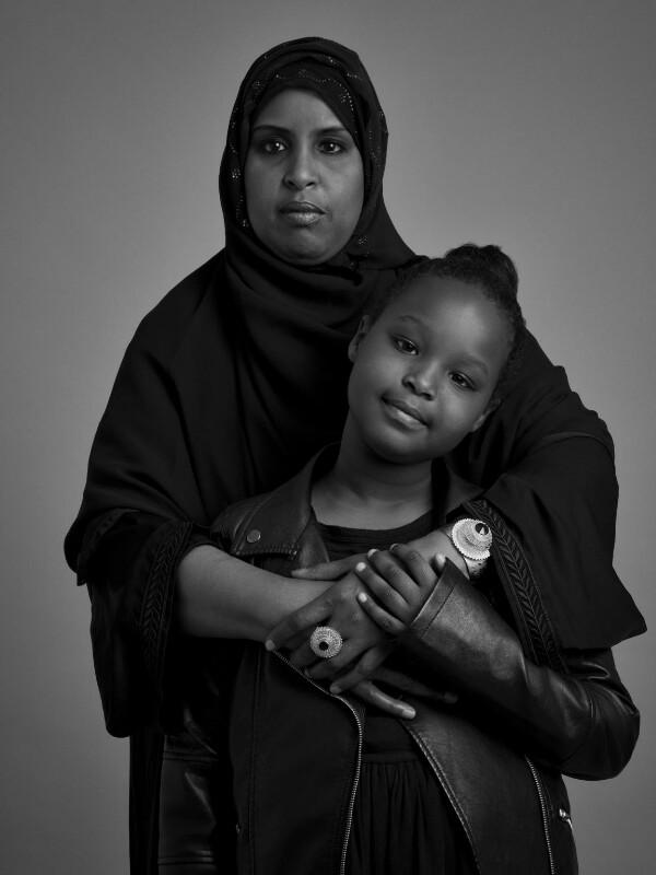 Hibo Wardere with her daughter, by Jason Ashwood, 2016 - NPG x200129 - © Jason Ashwood