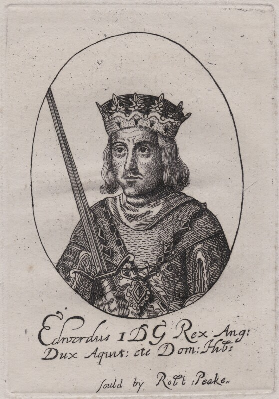 King Edward I, after a print published by Sir Robert Peake, late 18th or early 19th century (circa 1635-1642) - NPG D48627 - © National Portrait Gallery, london