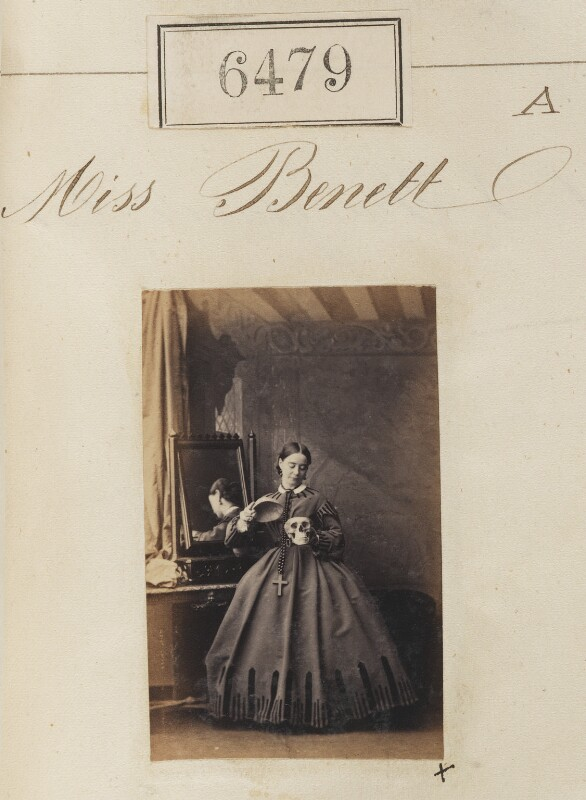 Miss Bennett, by Camille Silvy, 16 November 1861 - NPG Ax56413 - © National Portrait Gallery, London