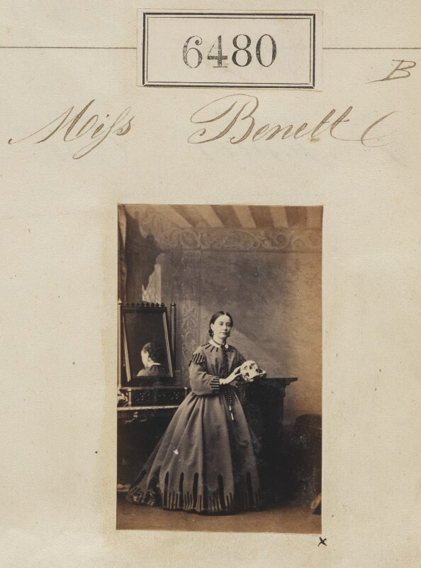 Miss Bennett, by Camille Silvy, 16 November 1861 - NPG Ax56414 - © National Portrait Gallery, London