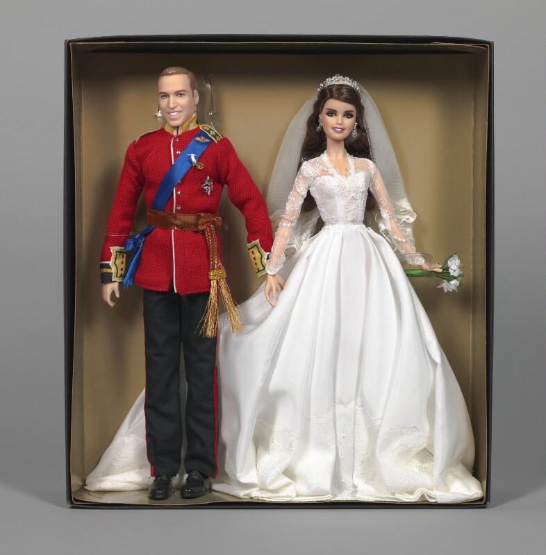 'Barbie William and Catherine Royal Wedding' (Prince William, Duke of Cambridge; Catherine, Duchess of Cambridge), by Robert Best, for  Mattel Inc, 2012 - NPG D48051 - Art Fund Popular Portraits Collection. Photo: © National Portrait Gallery, London
