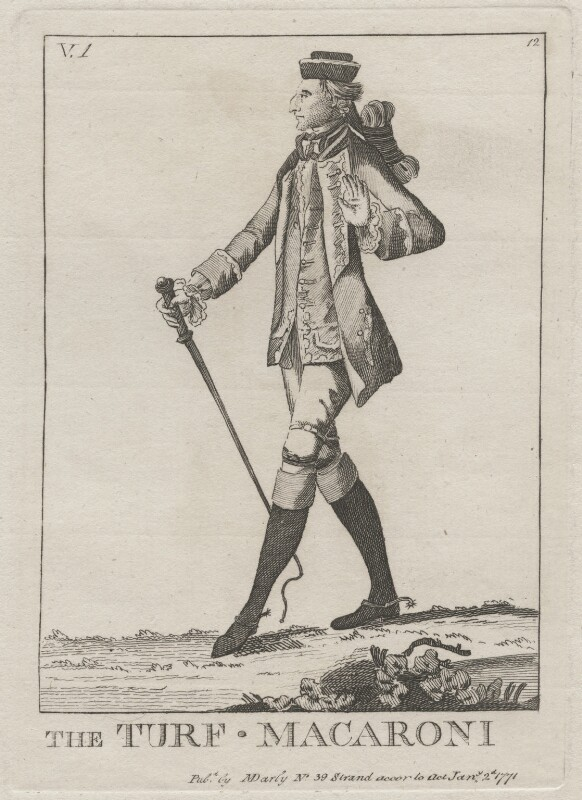 Augustus Henry FitzRoy, 3rd Duke of Grafton ('The Turf Macaroni'), published by Mary Darly, published 2 January 1771 - NPG D48067 - © National Portrait Gallery, London