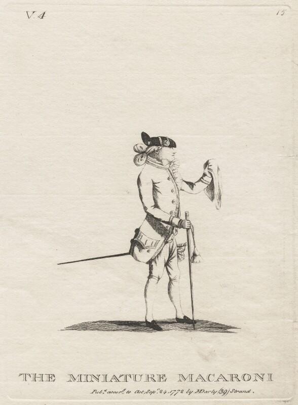 Richard Cosway ('The Miniature Macaroni'), published by Mary Darly, published 24 September 1772 - NPG D48069 - © National Portrait Gallery, London