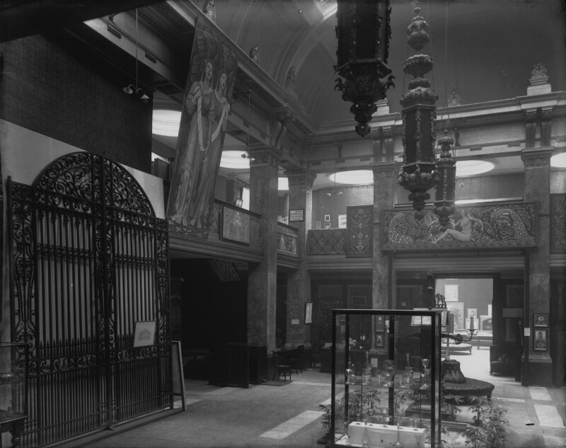 Interior of the fifth Arts and Crafts Society Exhibition at the New Gallery (Central Hall), by Sir Emery Walker, 1896 - NPG x200689 - © National Portrait Gallery, London