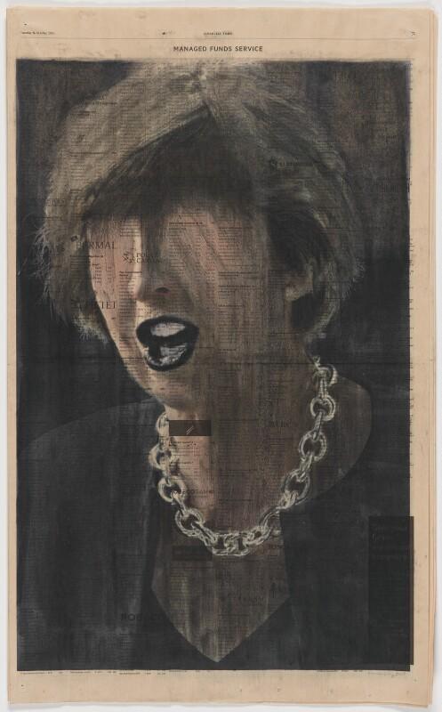 Profit (Theresa May), by kennardphillipps (Peter Kennard and Cat Phillipps), 2017 - NPG x200703 - © Kennardphillipps