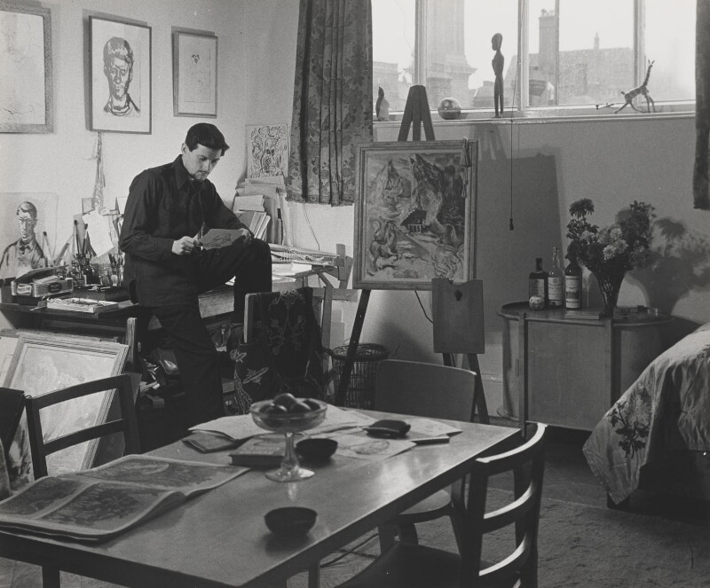 Ronald Searle, by Wolfgang Suschitzky, 1946 - NPG x200762 - © the estate of W.Suschitzky