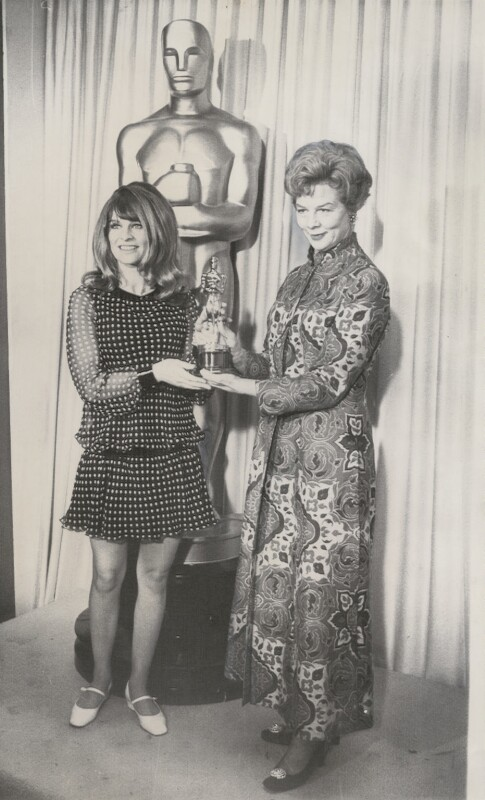 Julie Christie; Dame Wendy Margaret Hiller, by Unknown photographer, 10 April 1967 - NPG x194465 -