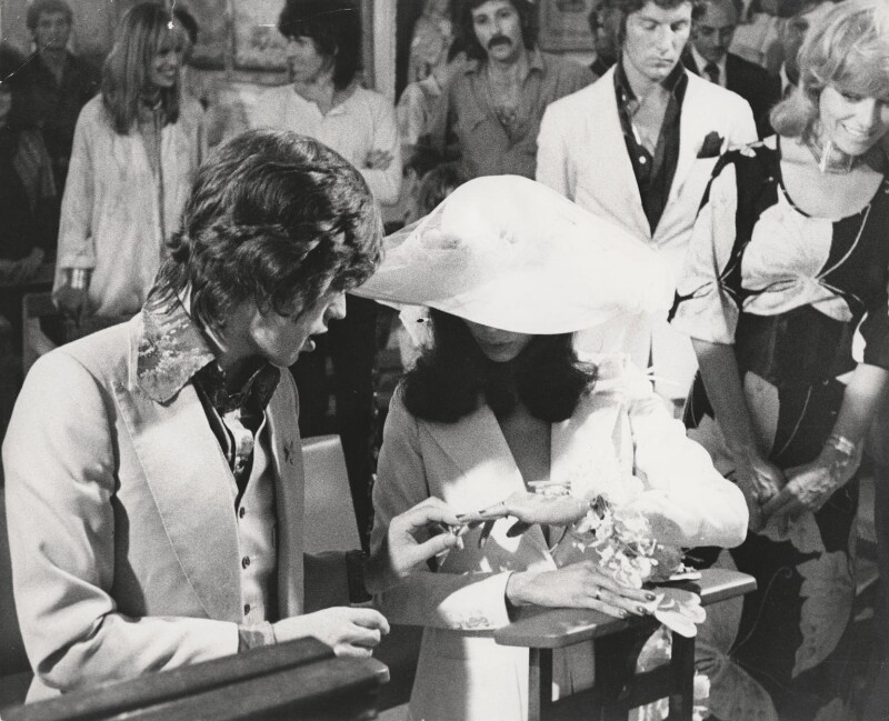 Anita Pallenberg Keith Richards Daughters Wedding.Npg X198310 Mick Jagger Bianca Jagger Anita Pallenberg Keith