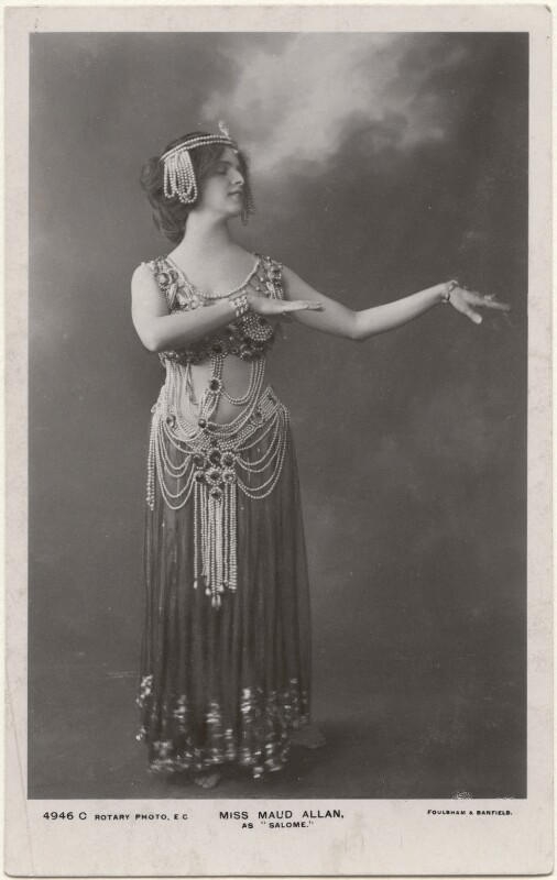 Maud Allan as 'Salome', by Foulsham & Banfield, published by  Rotary Photographic Co Ltd, 1908 - NPG x198333 - © National Portrait Gallery, London