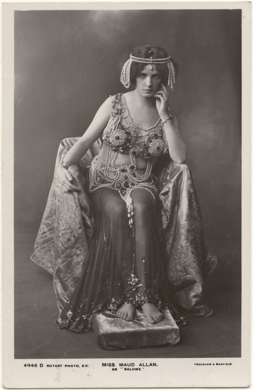 Maud Allan as 'Salome', by Foulsham & Banfield, published by  Rotary Photographic Co Ltd, 1908 - NPG x198334 - © National Portrait Gallery, London