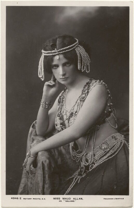 Maud Allan as 'Salome', by Foulsham & Banfield, published by  Rotary Photographic Co Ltd, 1908 - NPG x198335 - © National Portrait Gallery, London