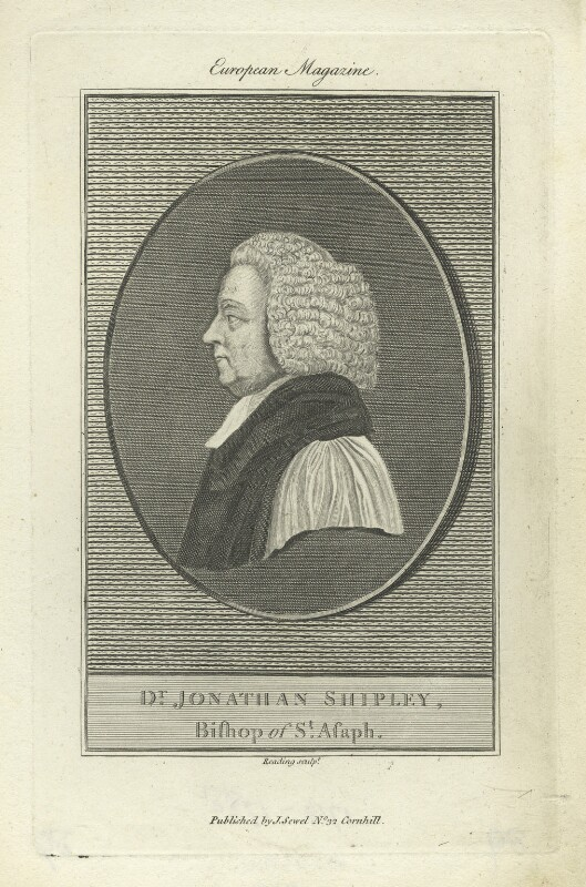 Jonathan Shipley, by Burnet Reading, published by  John Sewell, published 1788 - NPG D4978 - © National Portrait Gallery, London
