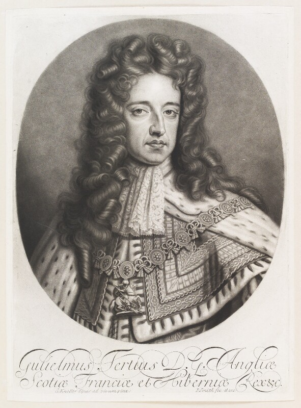 King William III, by and published by John Smith, after  Sir Godfrey Kneller, Bt, 1695 - NPG D11525 - © National Portrait Gallery, London