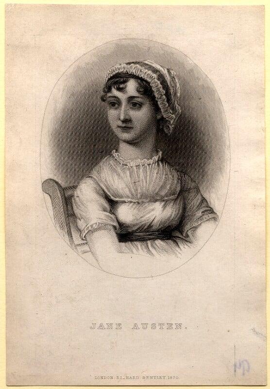 Jane Austen, published by Richard Bentley, after  Cassandra Austen, published 1870 - NPG D1007 - © National Portrait Gallery, London
