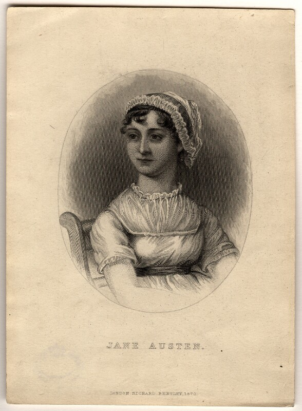 Jane Austen, published by Richard Bentley, after  Cassandra Austen, published 1870 - NPG D1008 - © National Portrait Gallery, London