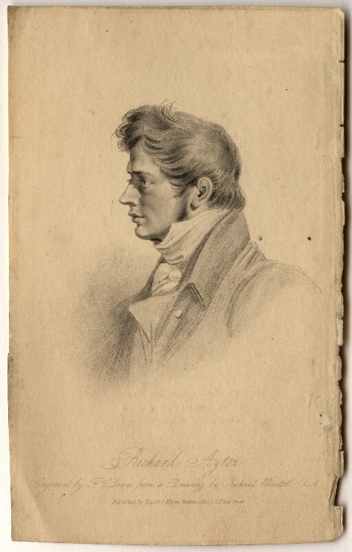 Richard Ayton, by Frederick Christian Lewis Sr, published by  Taylor & Hessey, after  Richard Westall, published 1825 - NPG D1010 - © National Portrait Gallery, London