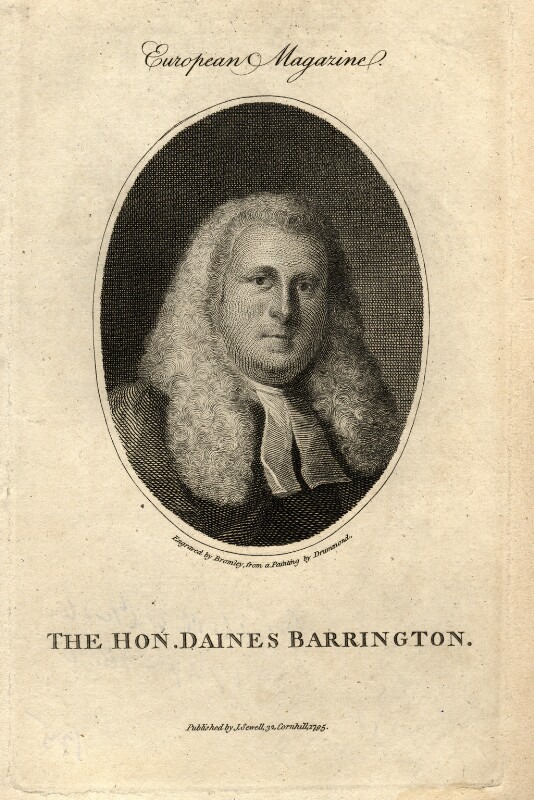 Daines Barrington, by William Bromley, after  Samuel Drummond, published 1795 - NPG D1020 - © National Portrait Gallery, London