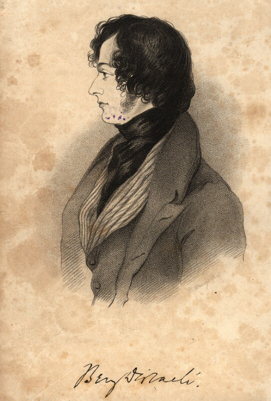 Benjamin Disraeli, Earl of Beaconsfield, after Alfred, Count D'Orsay, circa 1837 - NPG D1031 - © National Portrait Gallery, London