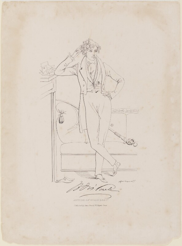 Benjamin Disraeli, Earl of Beaconsfield, by Daniel Maclise, published by  James Fraser, circa 1833 - NPG D1032 - © National Portrait Gallery, London