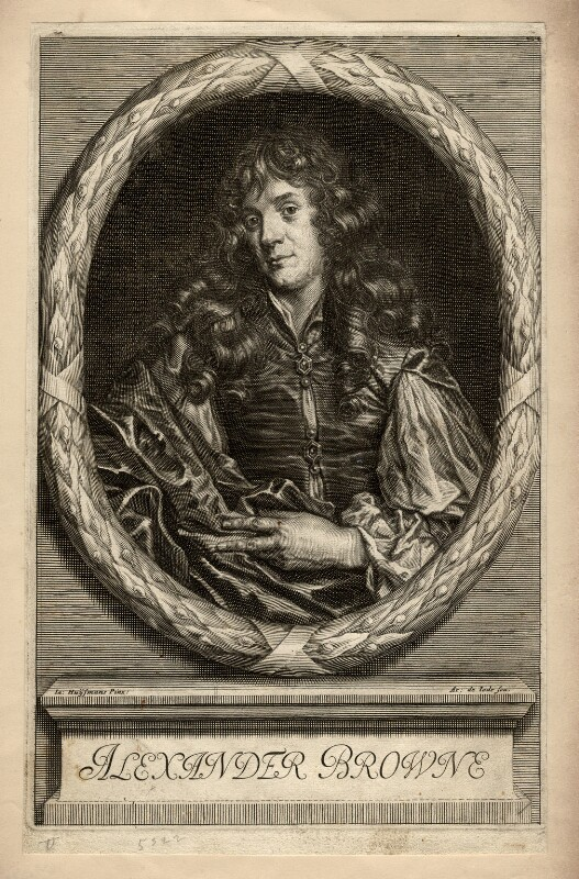 Alexander Browne, by Arnold de Jode, after  Jacob Huysmans, published 1669 - NPG D1121 - © National Portrait Gallery, London