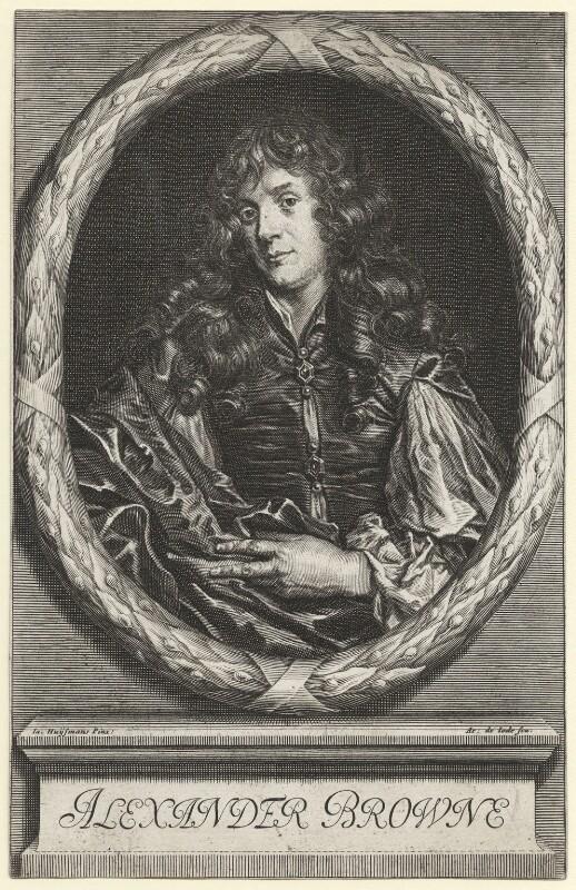 Alexander Browne, by Arnold de Jode, after  Jacob Huysmans, published 1669 - NPG D1122 - © National Portrait Gallery, London