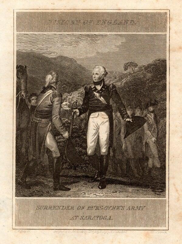John Burgoyne, by T. Wallis, after  William Marshall Craig, published 1807 - NPG D1144 - © National Portrait Gallery, London
