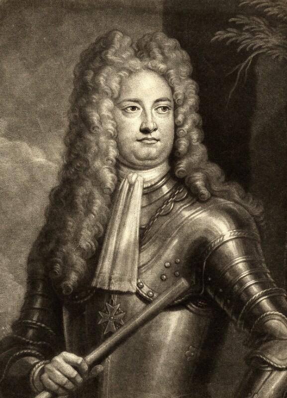 William Cadogan, 1st Earl Cadogan, by John Simon, after  Louis Laguerre, (circa 1716) - NPG D1192 - © National Portrait Gallery, London