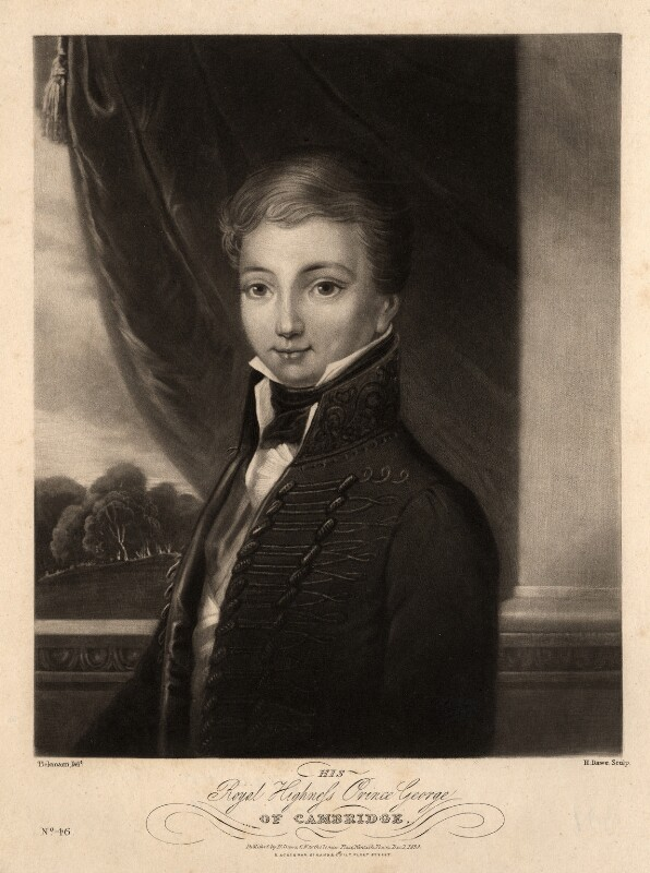 Prince George William Frederick Charles, 2nd Duke of Cambridge, by Henry Edward Dawe, after  Tielemann, published 1830 - NPG D1195 - © National Portrait Gallery, London