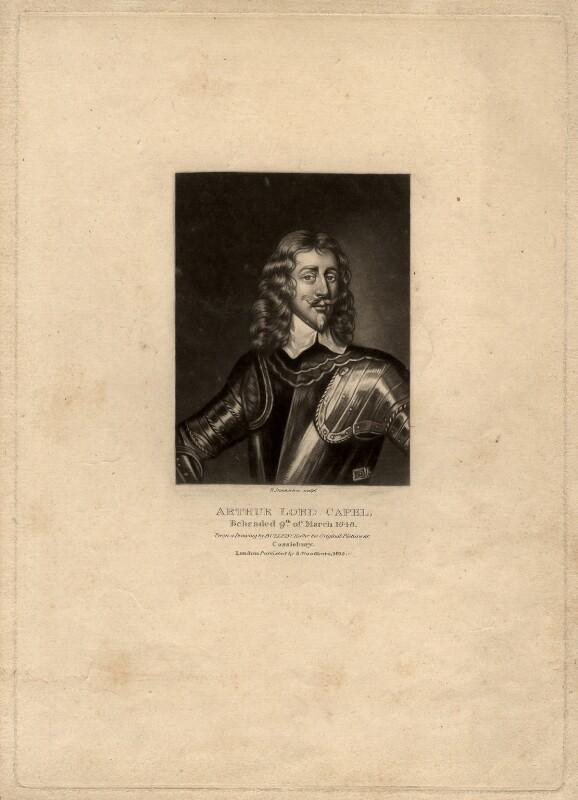 Arthur Capel, 1st Baron Capel, by Robert Dunkarton, after  Unknown artist, published 1815 - NPG D1222 - © National Portrait Gallery, London