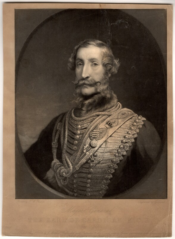 James Thomas Brudenell, 7th Earl of Cardigan, by George Zobel, after  Henry Wyndham Phillips, published 1856 - NPG D1224 - © National Portrait Gallery, London