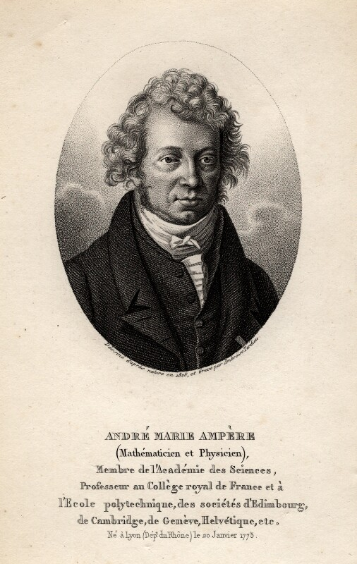 André Marie Ampère, by Ambrose Tardieu, 1825 - NPG D1241 - © National Portrait Gallery, London