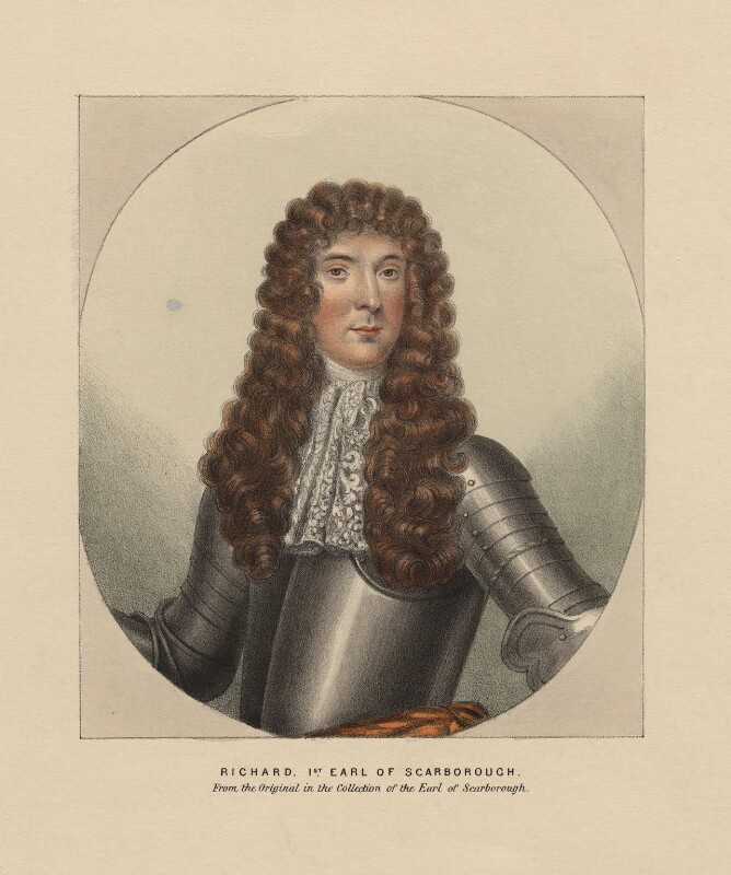 Richard Lumley, 1st Earl of Scarbrough, after Unknown artist, 19th century - NPG D1250 - © National Portrait Gallery, London