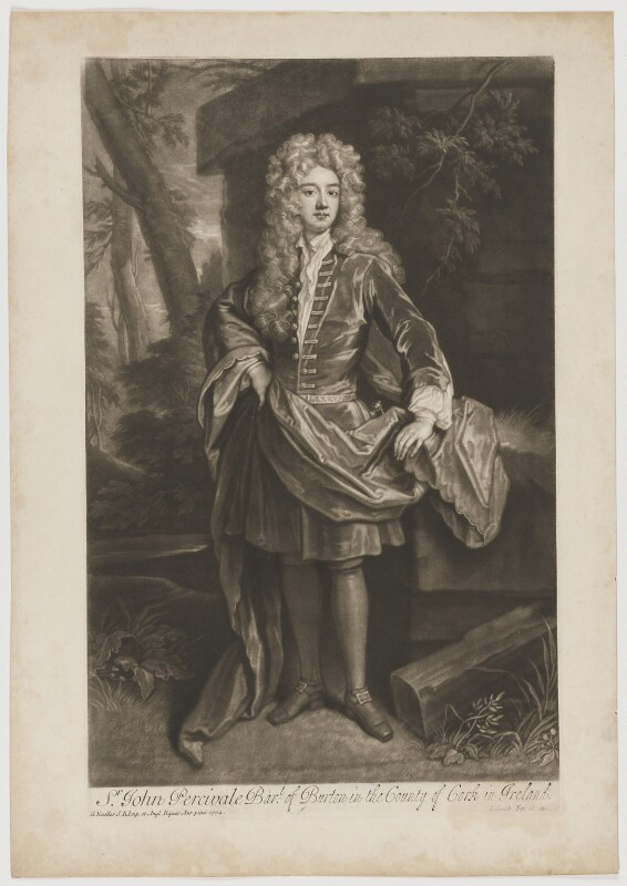 John Perceval, 1st Earl of Egmont, by John Smith, after  Sir Godfrey Kneller, Bt, 1708 (1704) - NPG D1257 - © National Portrait Gallery, London