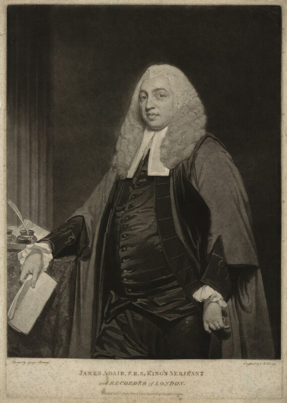 James Adair, by Charles Howard Hodges, after  George Romney, published 1789 - NPG D1290 - © National Portrait Gallery, London