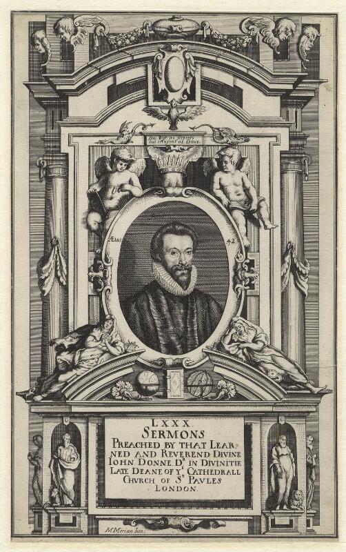 John Donne, by Matthäus Merian the Younger, published 1640 - NPG D1307 - © National Portrait Gallery, London