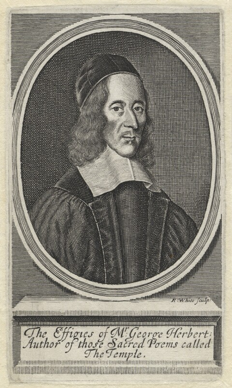 George Herbert, by Robert White, 1674 - NPG D1323 - © National Portrait Gallery, London