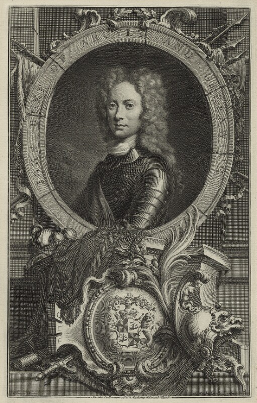 John Campbell, 2nd Duke of Argyll and Greenwich, by Jacobus Houbraken, after  William Aikman, 1735 - NPG D1343 - © National Portrait Gallery, London
