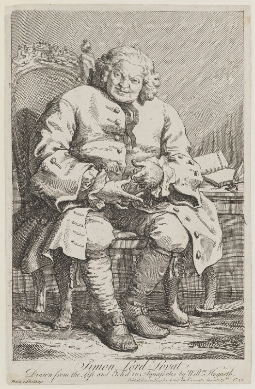 Simon Fraser, 11th Baron Lovat, by William Hogarth, published 25 August 1746 (1746) - NPG D1347 - © National Portrait Gallery, London
