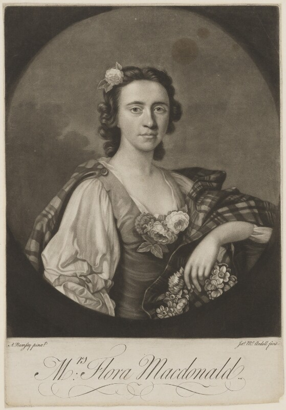 Flora Macdonald, by James Macardell, after  Allan Ramsay, published 1749 (1749) - NPG D1348 - © National Portrait Gallery, London