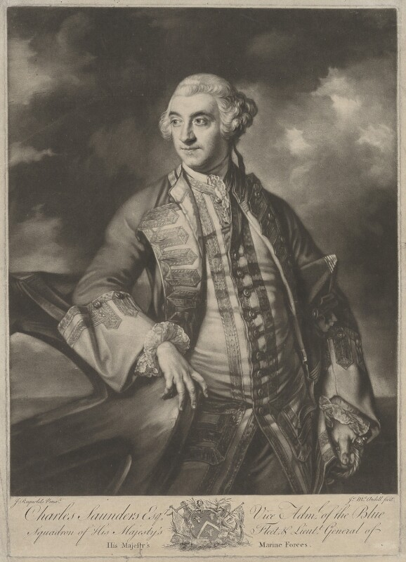 Sir Charles Saunders, by James Macardell, after  Sir Joshua Reynolds, (1760) - NPG D1355 - © National Portrait Gallery, London