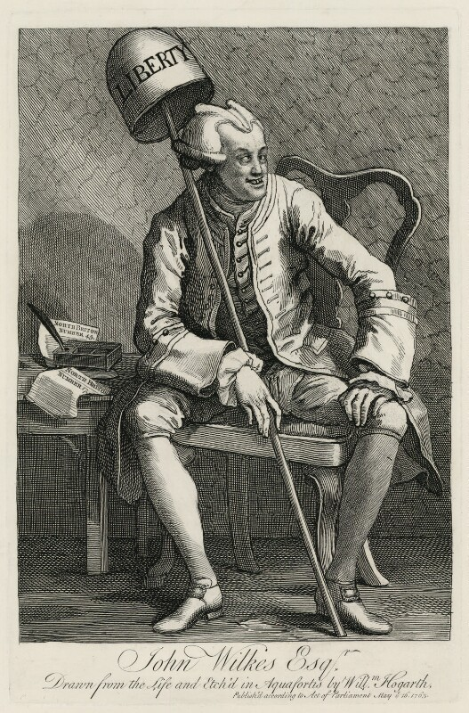 John Wilkes, by William Hogarth, published 16 May 1763 - NPG D1362 - © National Portrait Gallery, London