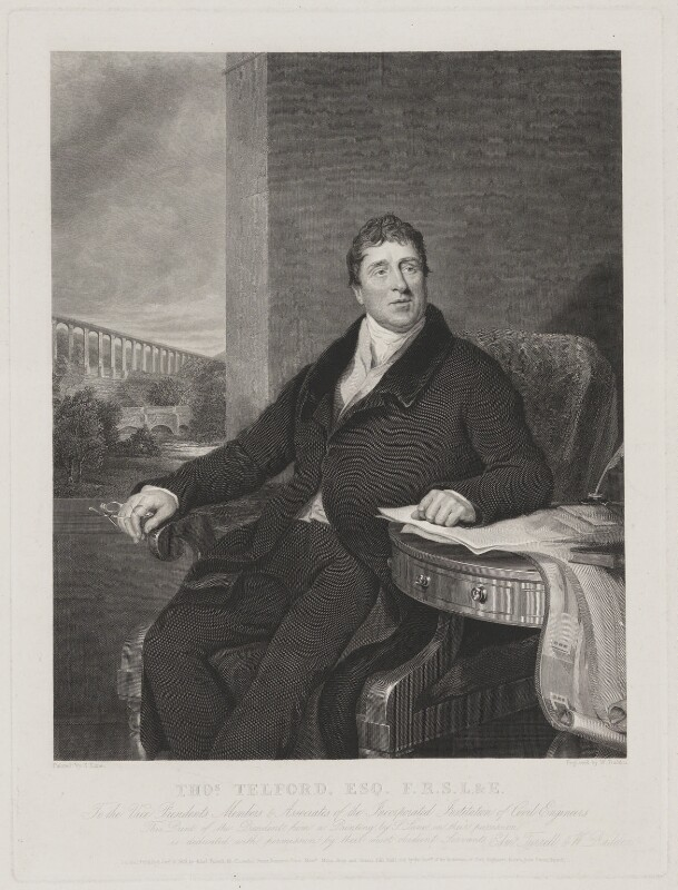 Thomas Telford, by William Raddon, after  Samuel Lane, published 1831 (1820-1822) - NPG D1381 - © National Portrait Gallery, London