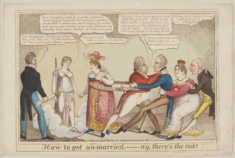 How to get Un-married, - Ay, there's the Rub!, by J. Lewis Marks, published 1820 - NPG D1386 - © National Portrait Gallery, London
