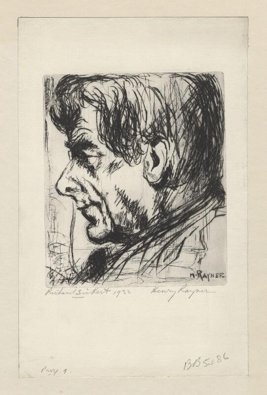Walter Sickert, by (Hewitt) Henry Rayner, 1931 - NPG D1399 -