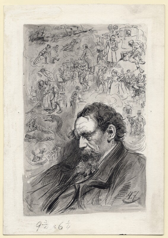 Charles Dickens, by Harry Furniss, 1880s-1900s - NPG D145 - © National Portrait Gallery, London