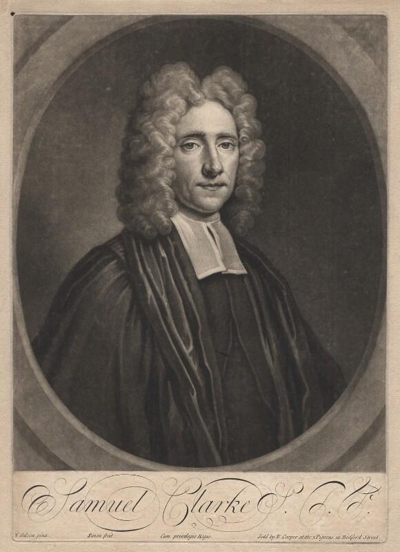 Samuel Clarke, by John Simon, after  Thomas Gibson, early 18th century - NPG D1458 - © National Portrait Gallery, London