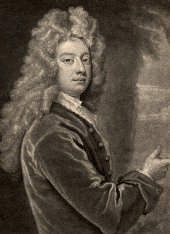 William Congreve, by John Smith, after  Sir Godfrey Kneller, Bt, 1710 (1709) - NPG D1515 - © National Portrait Gallery, London