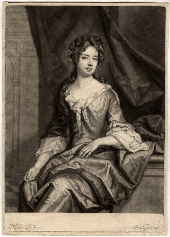 Catherine Copley (née Purcell), Lady Copley, by John Smith, after  Sir Godfrey Kneller, Bt, 1697 - NPG D1525 - © National Portrait Gallery, London