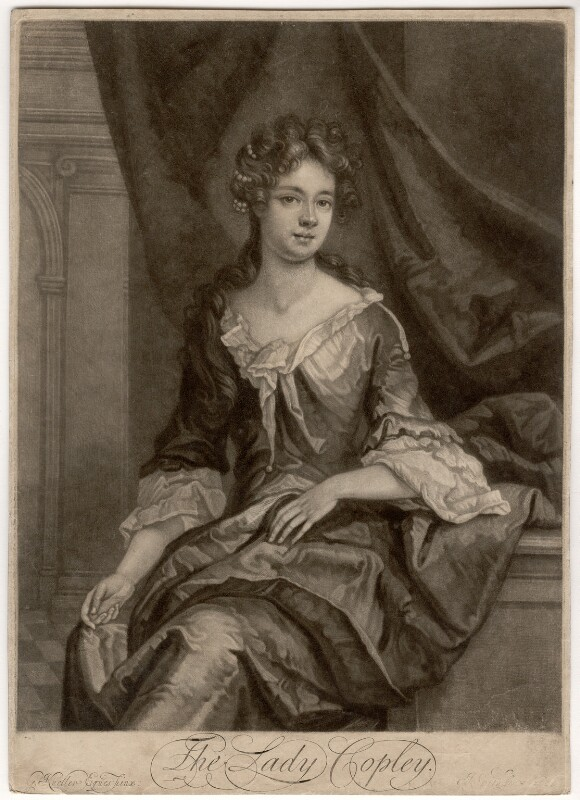 Catherine Copley (née Purcell), Lady Copley, by John Smith, after  Sir Godfrey Kneller, Bt,  - NPG D1526 - © National Portrait Gallery, London