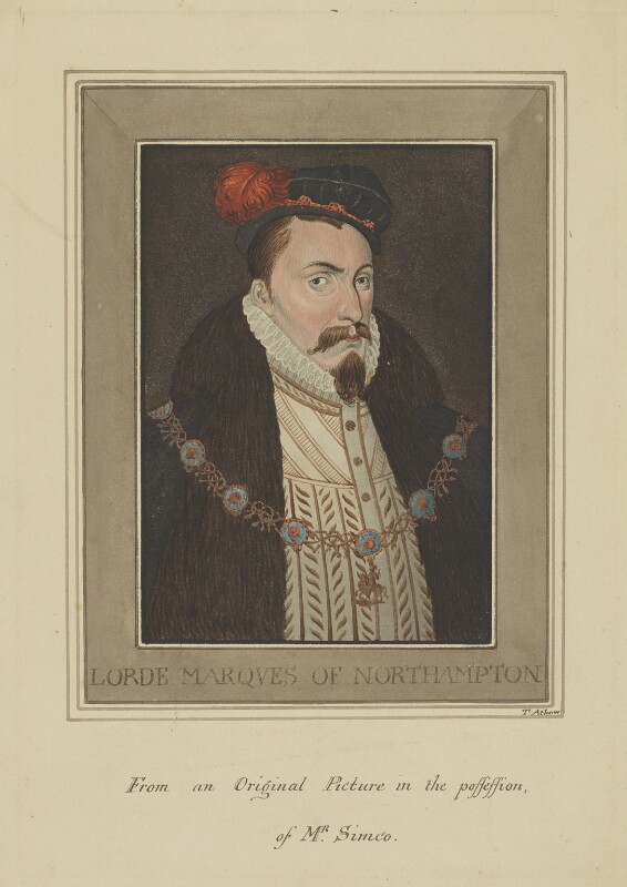 William Parr, Marquess of Northampton, by Thomas Athow,  - NPG D16 - © National Portrait Gallery, London